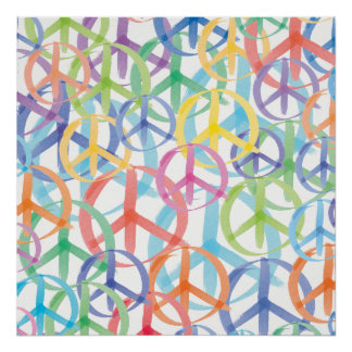 Art de symboles de paix poster