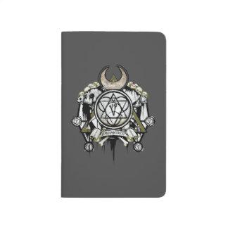 Art de tatouage de symboles d'enchanteresse du carnet de poche
