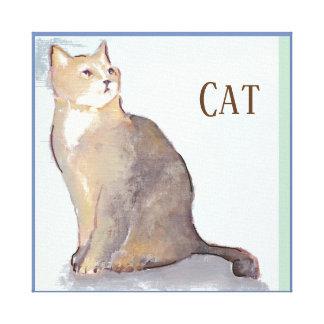 Art de toile avec un chat