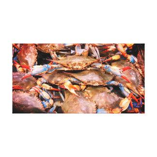 Art de toile de crabes bleus de baie de chesapeake