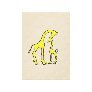 Art de toile de girafe toiles