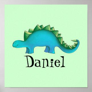 Art de toile de la crèche 11x11 de dinosaure - Ste
