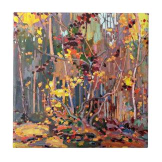 Art de Tom Thomson : Jeunes arbres d'érable Petit Carreau Carré