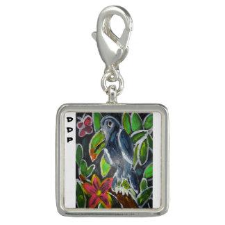 Art de toucan de forêt tropicale breloques avec photo