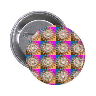 Art de tournesol de chakra d'étincelle du SOLEIL Badge Rond 5 Cm