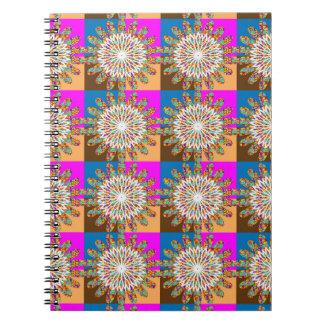 Art de tournesol de chakra d'étincelle du SOLEIL Carnets À Spirale