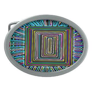Art de voyage dans l'espace - bouton invisible de  boucles de ceinture ovales