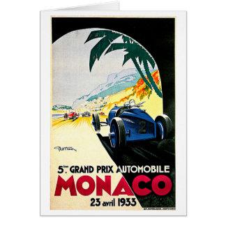 Art de voyage de course de voiture du Monaco Grand Cartes
