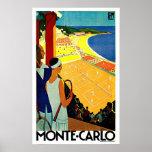 Art de voyage de tennis de Monte Carlo Monaco Posters