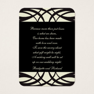 Art déco crème noir épousant des cartes