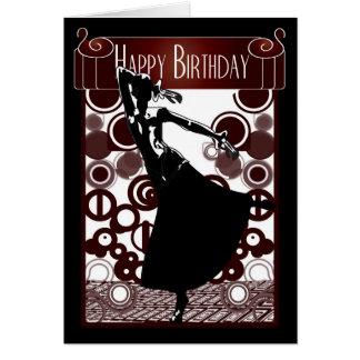 Art déco de carte d'anniversaire hurlant les