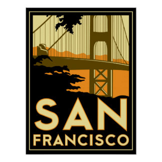 Art déco de San Francisco Posters