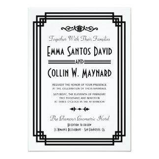Art déco épousant des invitations