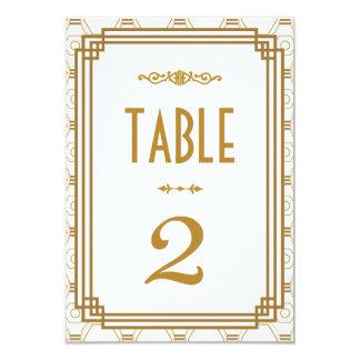 Art déco épousant des nombres de Tableau Carton D'invitation 8,89 Cm X 12,70 Cm