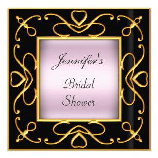 Art déco épousant le noir nuptiale de rose de douc invitations personnalisées