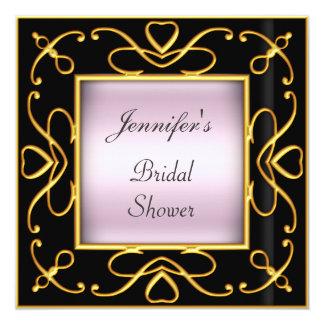 Art déco épousant le noir nuptiale de rose de invitations personnalisées