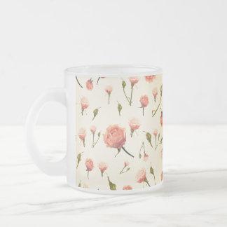 Art déco grisâtre girly rose vintage floral des an tasses