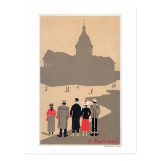 Art déco SceneParis, France de Le Pantheon Carte Postale