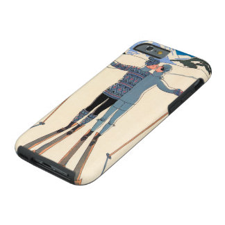 Art déco vintage, amants dans la neige par George Coque Tough iPhone 6