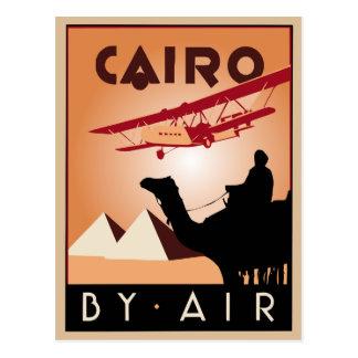 Art déco vintage de voyage de l'Egypte Cartes Postales
