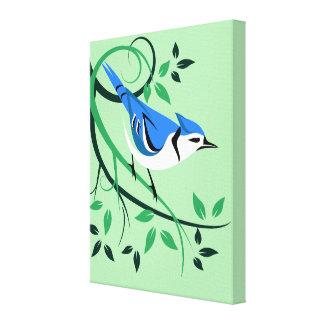 Art décoratif de geai bleu toiles
