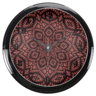 Art décoratif de mosaïque aqua clock