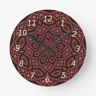 Art décoratif de mosaïque horloge ronde