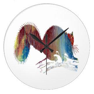 Art d'écureuil grande horloge ronde