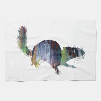 Art d'écureuil serviette pour les mains