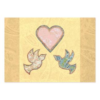 Art d'édredon d'amour d'espoir de foi de carte d'e carte de visite