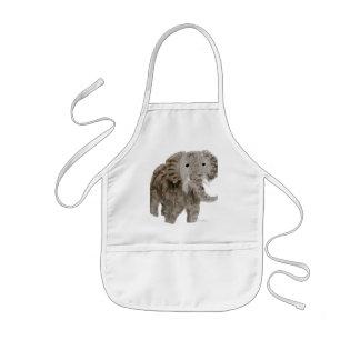 Art d'éléphant d'animal sauvage tablier enfant