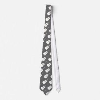 Art d'ensemble - cravates de dessin de guitare