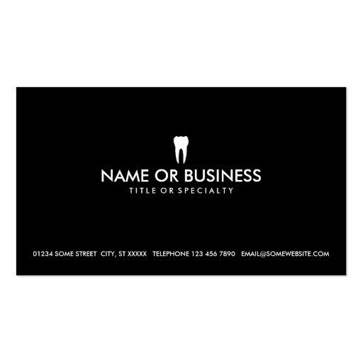 art dentaire simple modèle de carte de visite