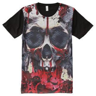 Art déplaisant d'obscurité de thème d'horreur de t-shirt tout imprimé