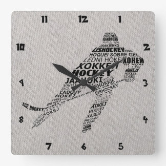 Art des textes de langues de hockey sur glace horloges murales