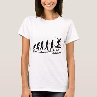 Art d'évolution de sport de gymnastique de t-shirt
