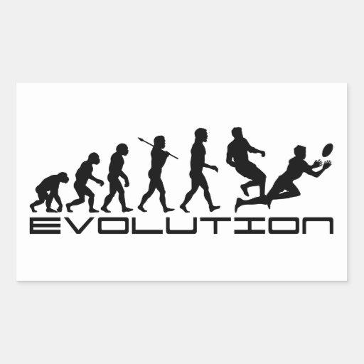 Art d'évolution de sport de rugby stickers rectangulaires