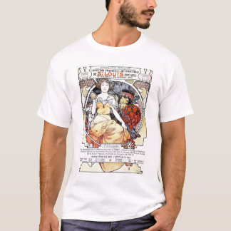 """Art d'exposition de St Louis T-shirt par Mucha"""