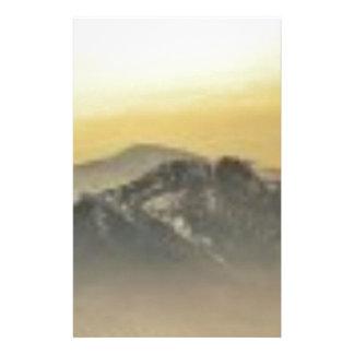 art d'horizon de montagne papeterie