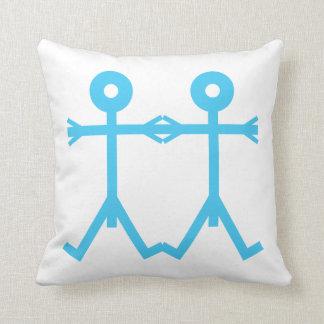 Art d'icône d'hommes d'amour coussins carrés