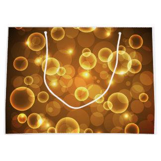 Art d'or de lumière de bulle d'or grand sac cadeau