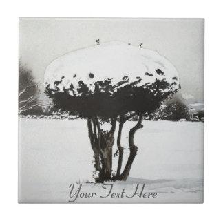 Art d'original de scène de neige de paysage de carreaux en céramique