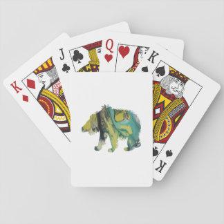 Art d'ours cartes à jouer