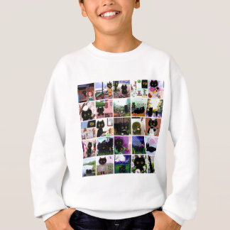 Art drôle Creationarts de bandes dessinées de chat Sweatshirt