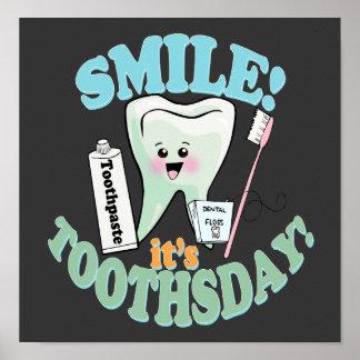 Art drôle de bureau de dentiste posters