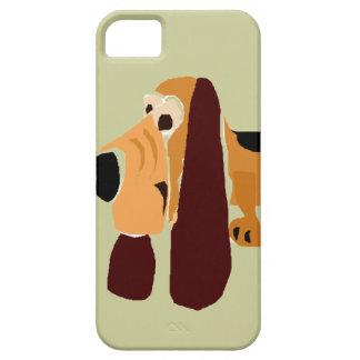 Art drôle de primitif de Basset Hound Coque Case-Mate iPhone 5
