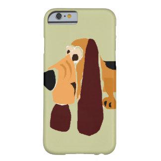 Art drôle de primitif de Basset Hound Coque iPhone 6 Barely There