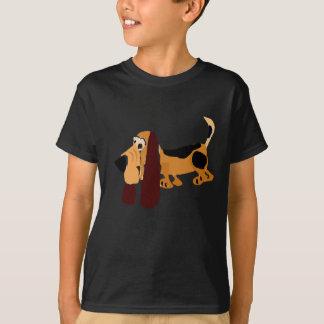 Art drôle de primitif de Basset Hound T-shirt