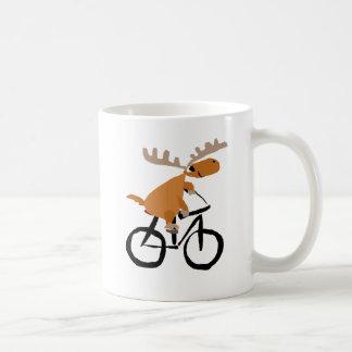 Art drôle d'original de bicyclette d'équitation mug