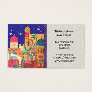 Art du Moyen-Orient coloré de ville de Jérusalem Cartes De Visite